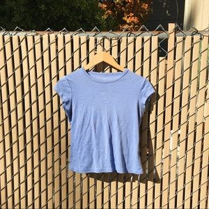 Periwinkle Blue Cotton Tee